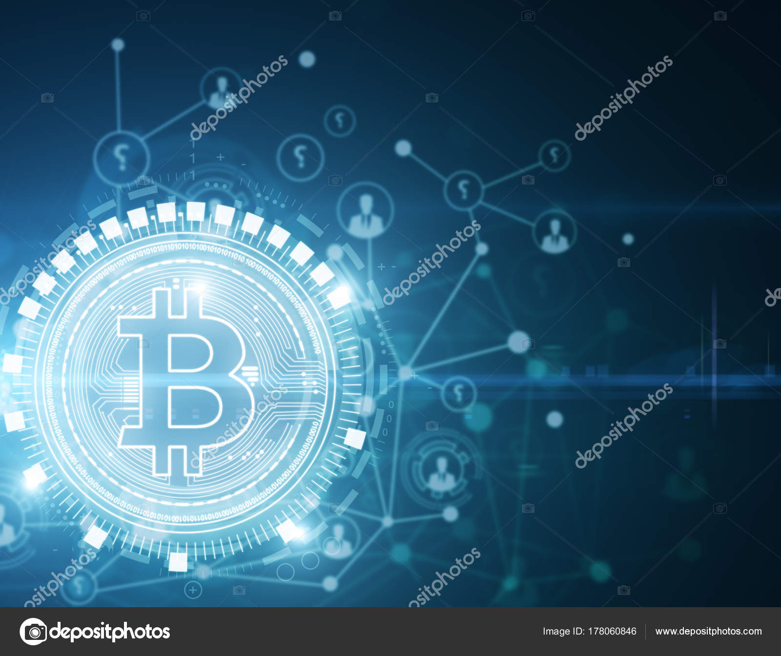 Glowing Bitcoin Wallpaper Stock Editorial Photo Peshkov 178060846