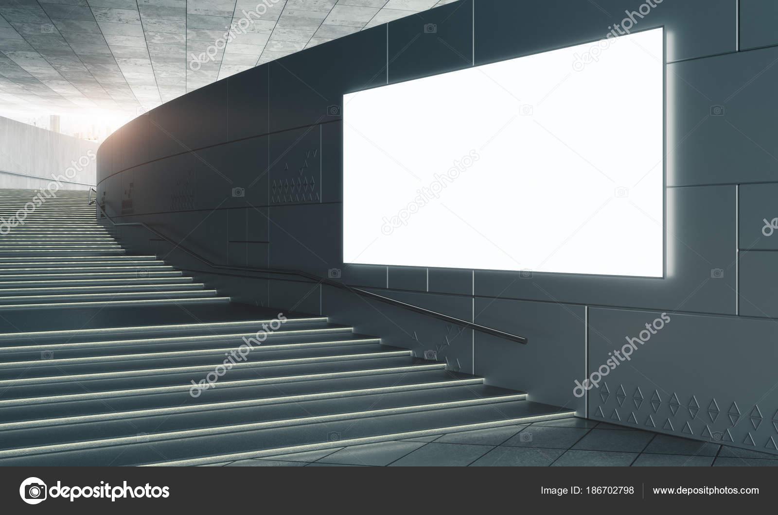 Betonnen trappen met lege poster u2014 stockfoto © peshkov #186702798