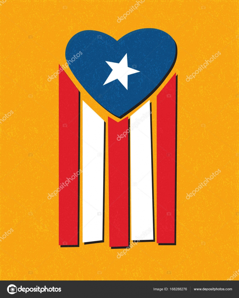 Puerto rican flag with blue area forming a heart shape to puerto rican flag with blue area forming a heart shape to symbolize helping puerto rico with biocorpaavc Image collections