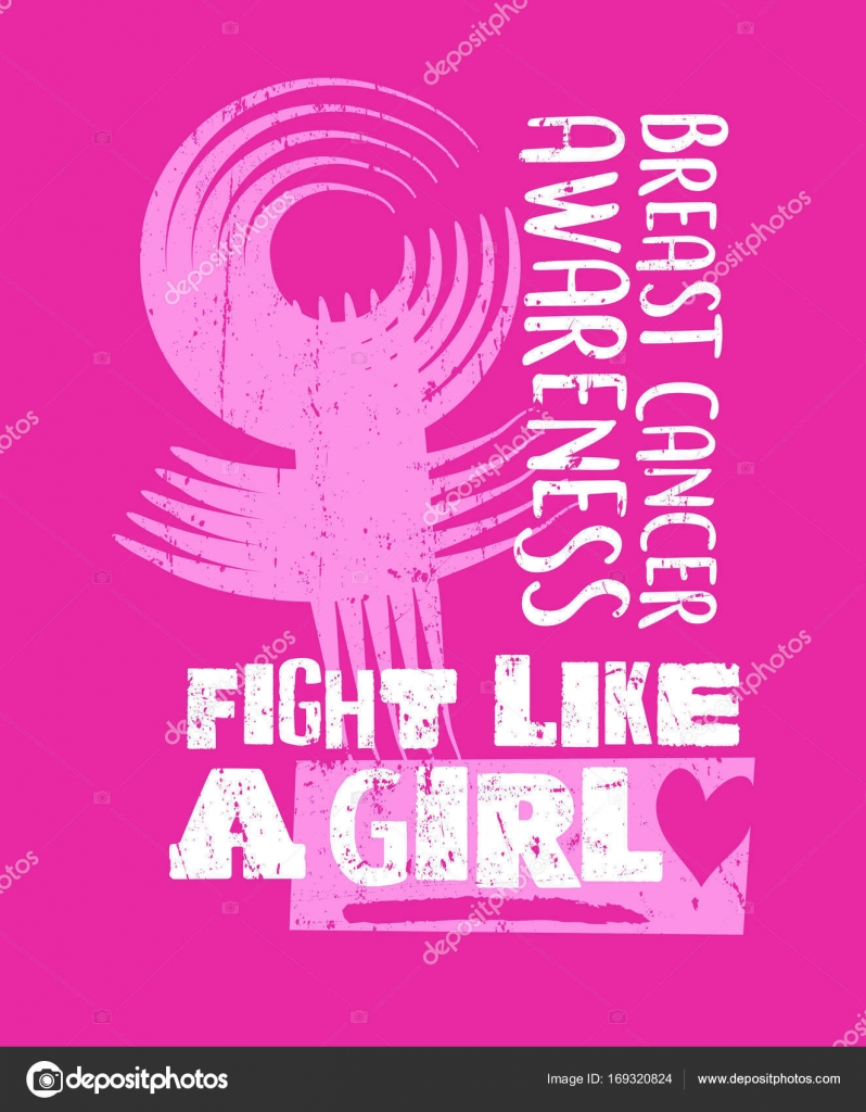 Breast cancer awareness month design with grunge text and female breast cancer awareness month design with grunge text and female symbol fight like a girl buycottarizona Choice Image