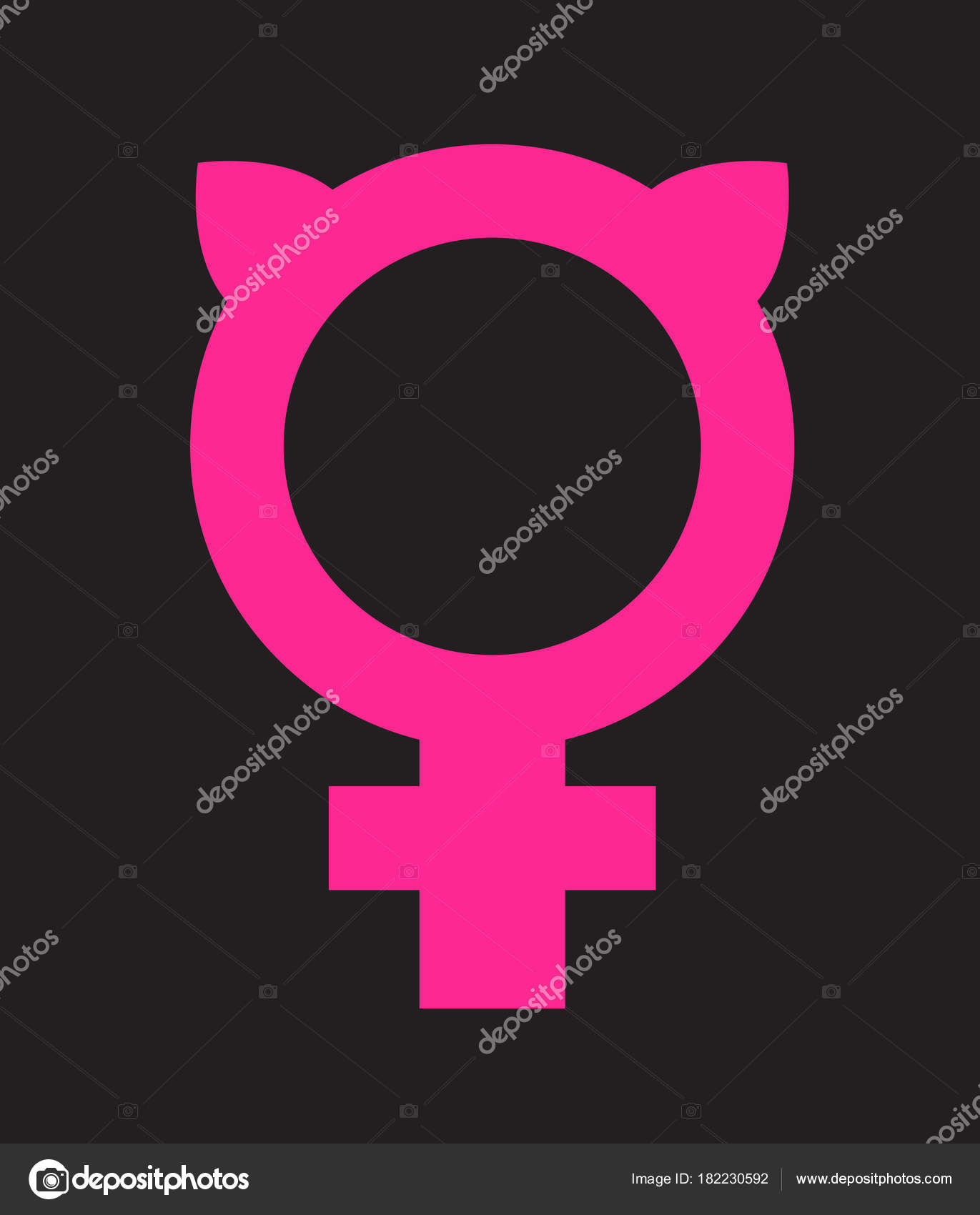 Symbol for female combined with pussy ears vector icon design for symbol for female combined with pussy ears vector icon design for posters banners biocorpaavc Gallery