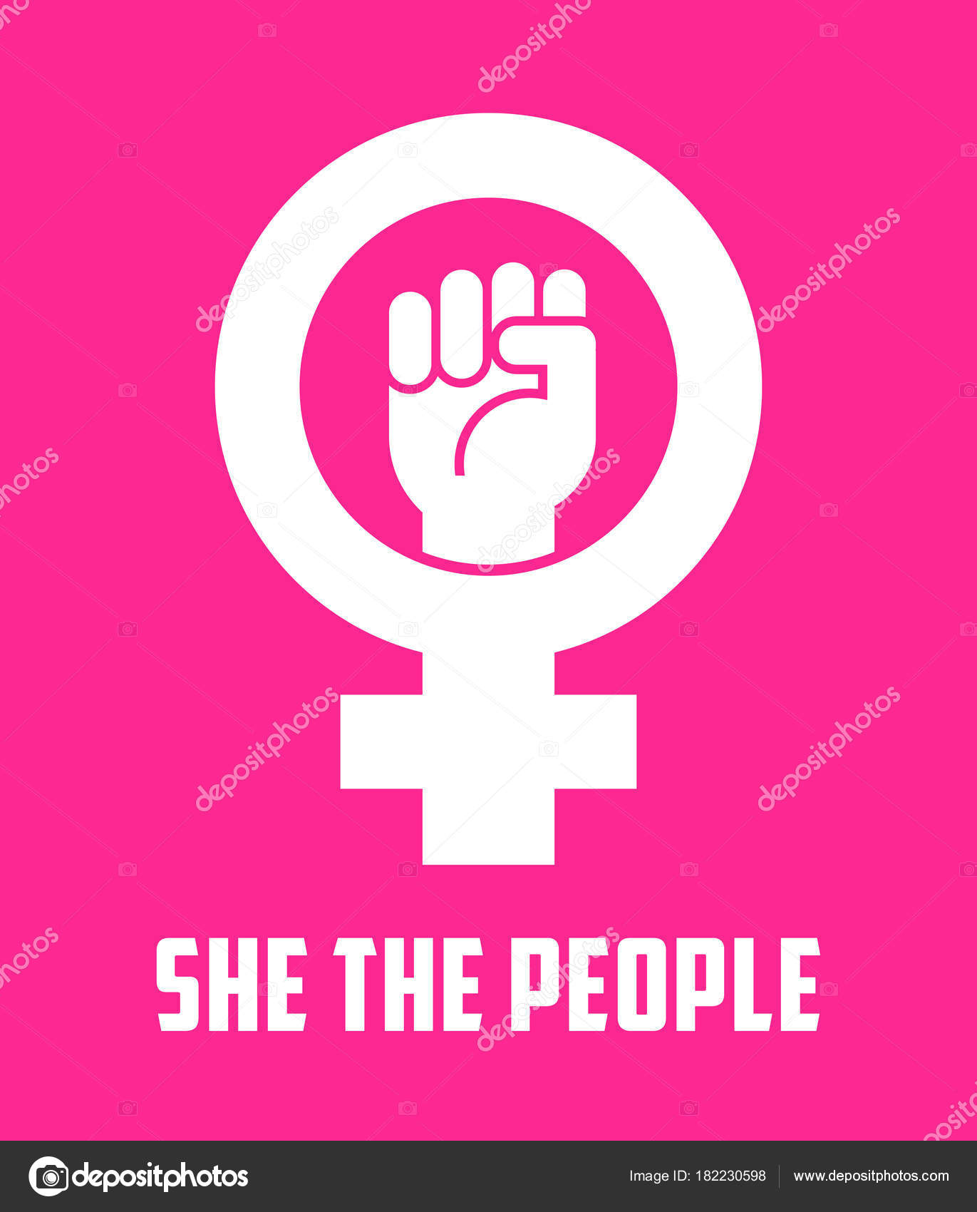 Symbol for female with raised fist vector icon design for posters symbol for female with raised fist vector icon design for posters banners signs biocorpaavc Gallery