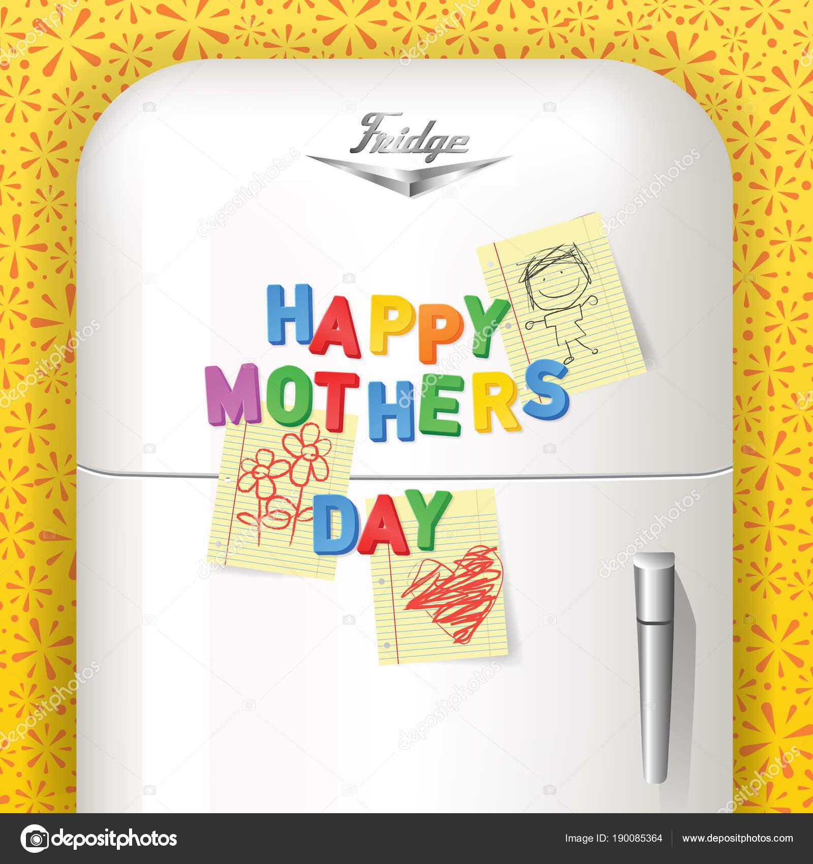 Schönen Muttertag geschrieben in Kunststoff magnetische Buchstaben ...