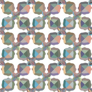 Abstract background texture in geometric ornamental style, seamless design pattern