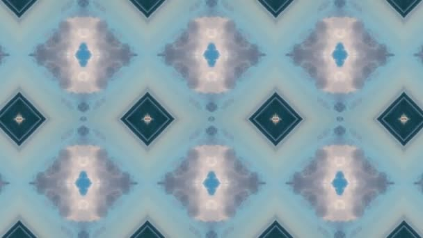Footage with seamless geometric ornamental pattern. Abstract illusion background