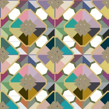 seamless geometric ornamental pattern. Abstract illusion background
