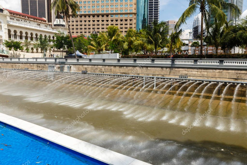 Fountains along The River of Life esplanade