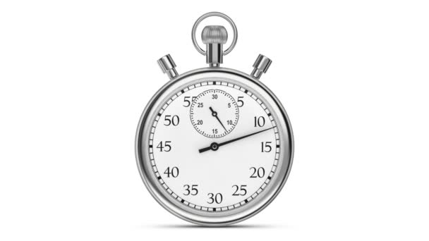animation stopwatch on a white background a full minute stock