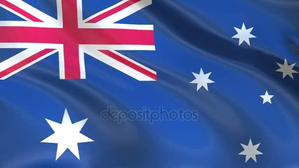 Flag of Australia waving in the wind.