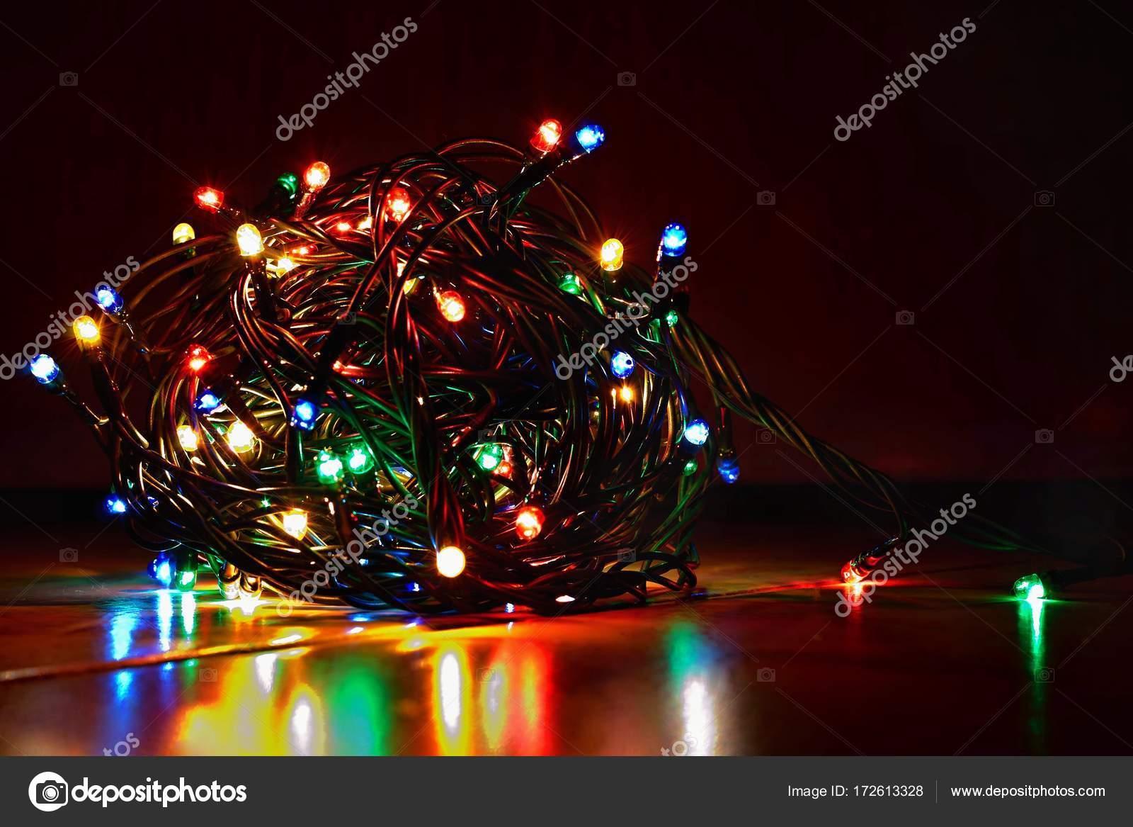 Fondo de Navidad abstracto textura de Navidad de color luces para