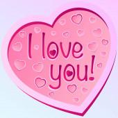 ich liebe dich Text in großen rosa Herz Symbol Valentinstag Zeichen süße Romantik rosa Herzen isoliert Vektor Illustration Affektionskonzept