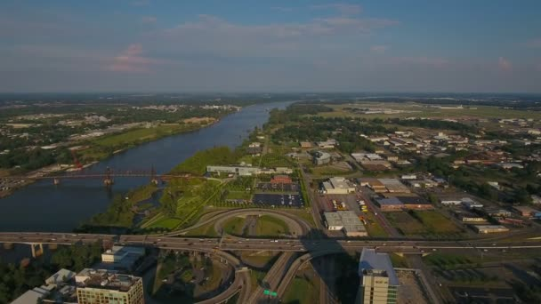 Letecké video z Little Rocku v Arkansasu