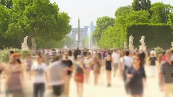 Time lapse of people walking around in Paris France.