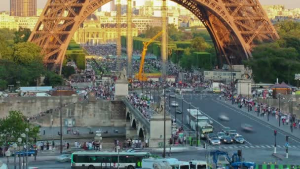 Time lapse of the Eiffel Tower in Paris France