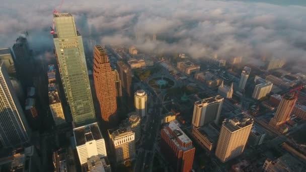 Luftbild der Innenstadt von Philadelphia in Pennsylvania.