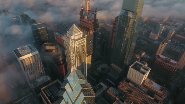 Légi videó a downtown, Philadelphia, Pennsylvania.
