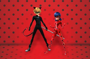 Lady Bug and Noir Cat Background