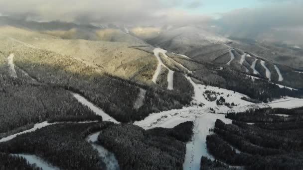 letecký pohled krajina v zimě Karpatské hory