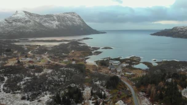 Nature of Norway. Flying over norwegian fjord