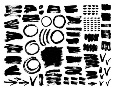 ink and paint textures set.