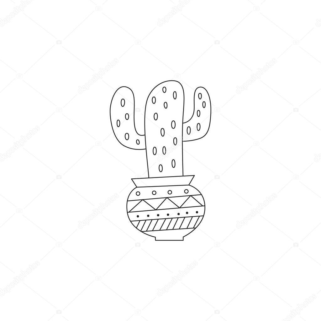 illustration of a hand drawn cactus.