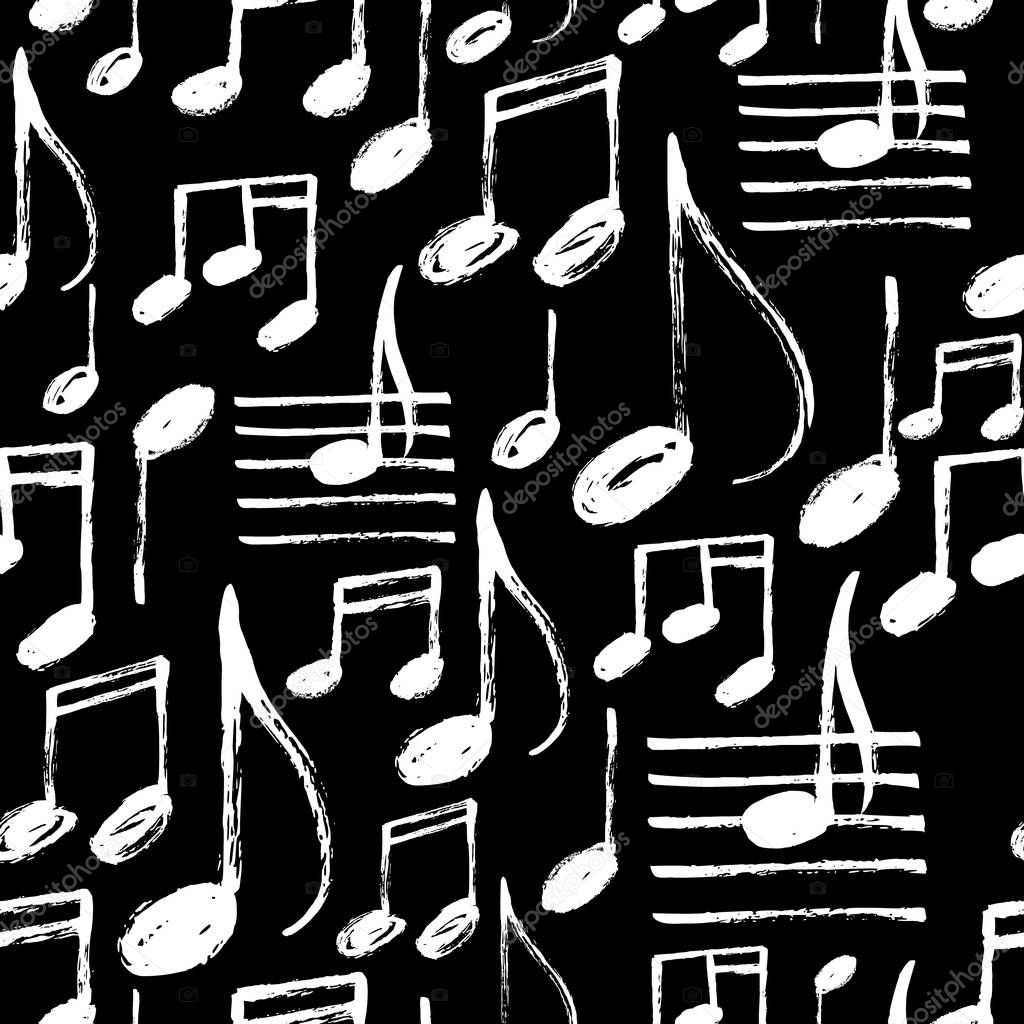 pattern with Music notes