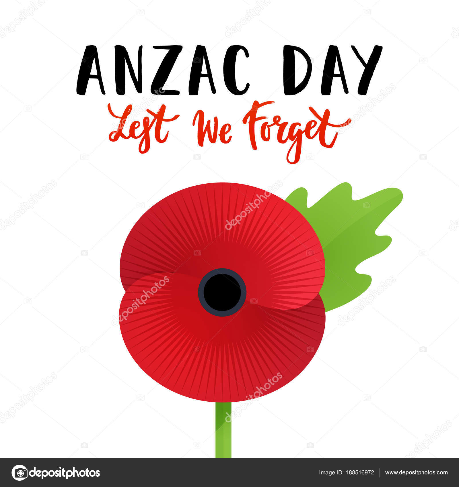Vector illustration bright poppy flower remembrance day symbol lest vector illustration bright poppy flower remembrance day symbol lest forget stock vector mightylinksfo