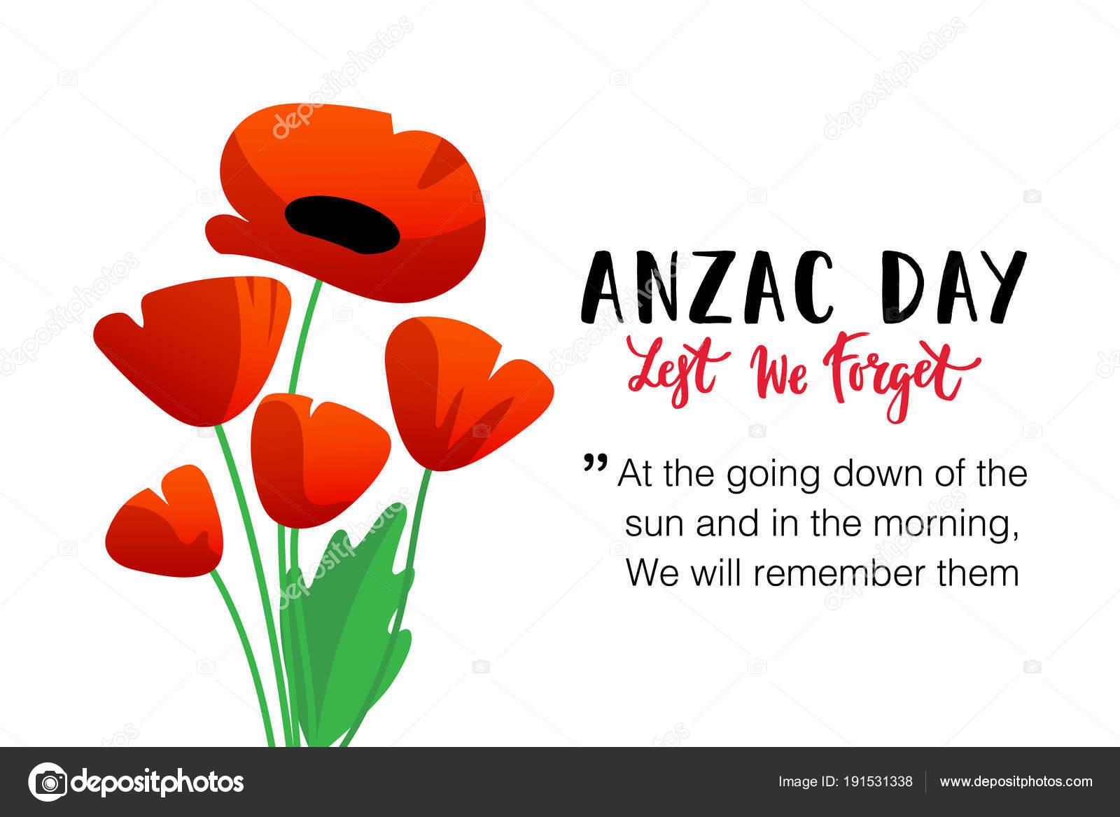 vector illustration bright poppy flower remembrance day symbol lest