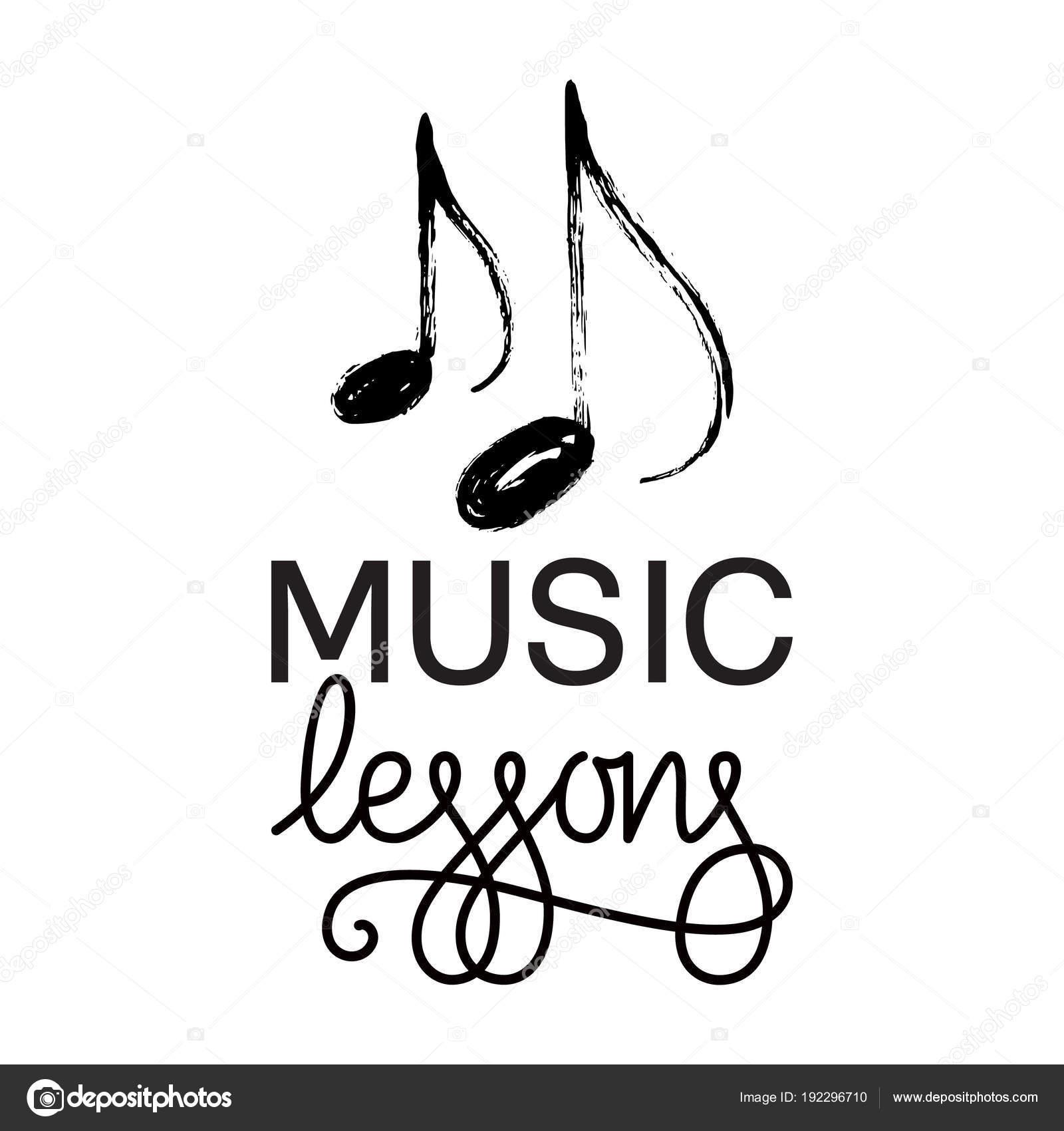 Music Lessons Logo Hand Drawn Music Note Vector Illustration Vector Image By C Barkarola Vector Stock 192296710