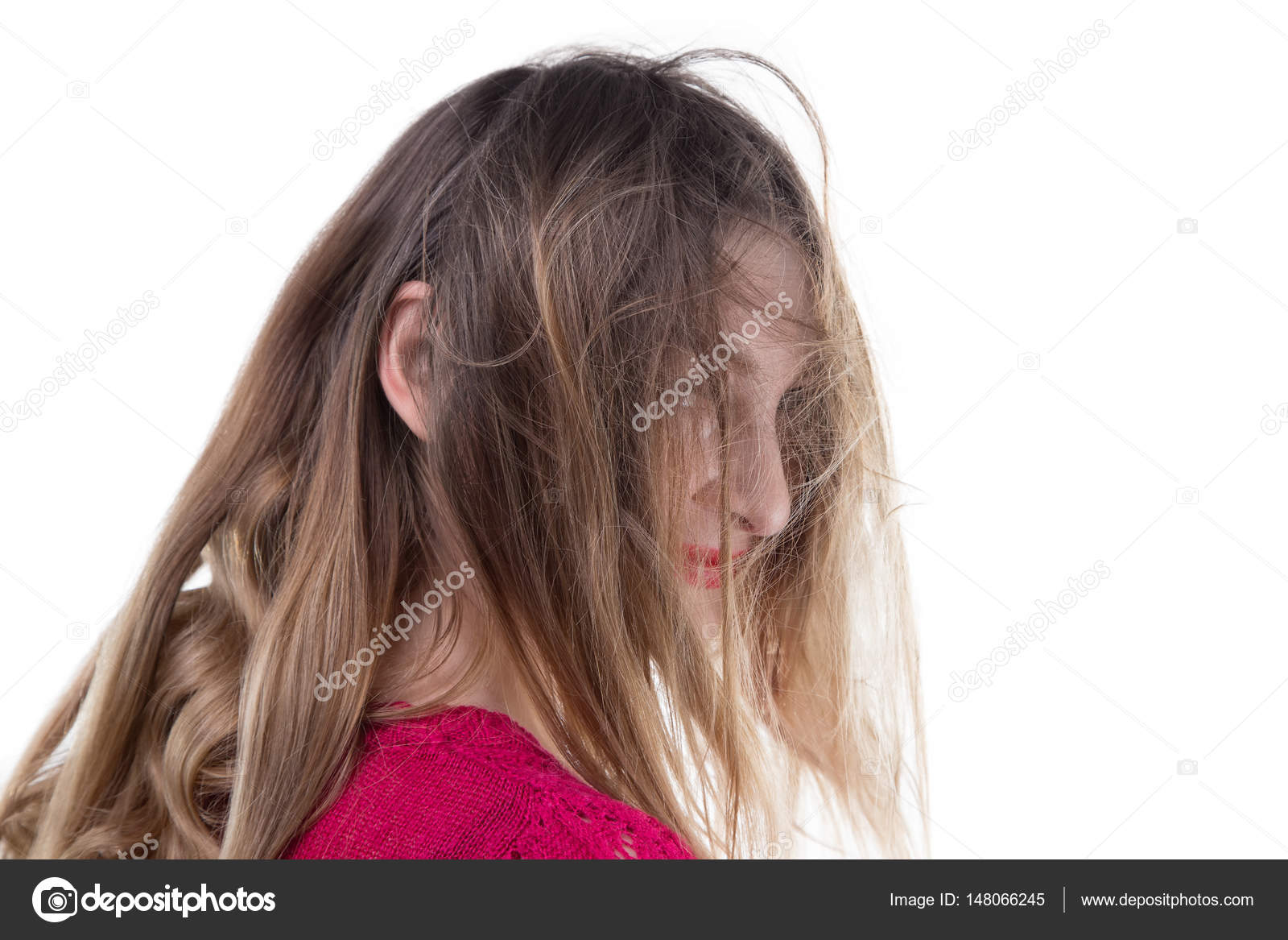 Femme Hirsute Photo jeune femme blonde hirsute — photographie christefme © #148066245