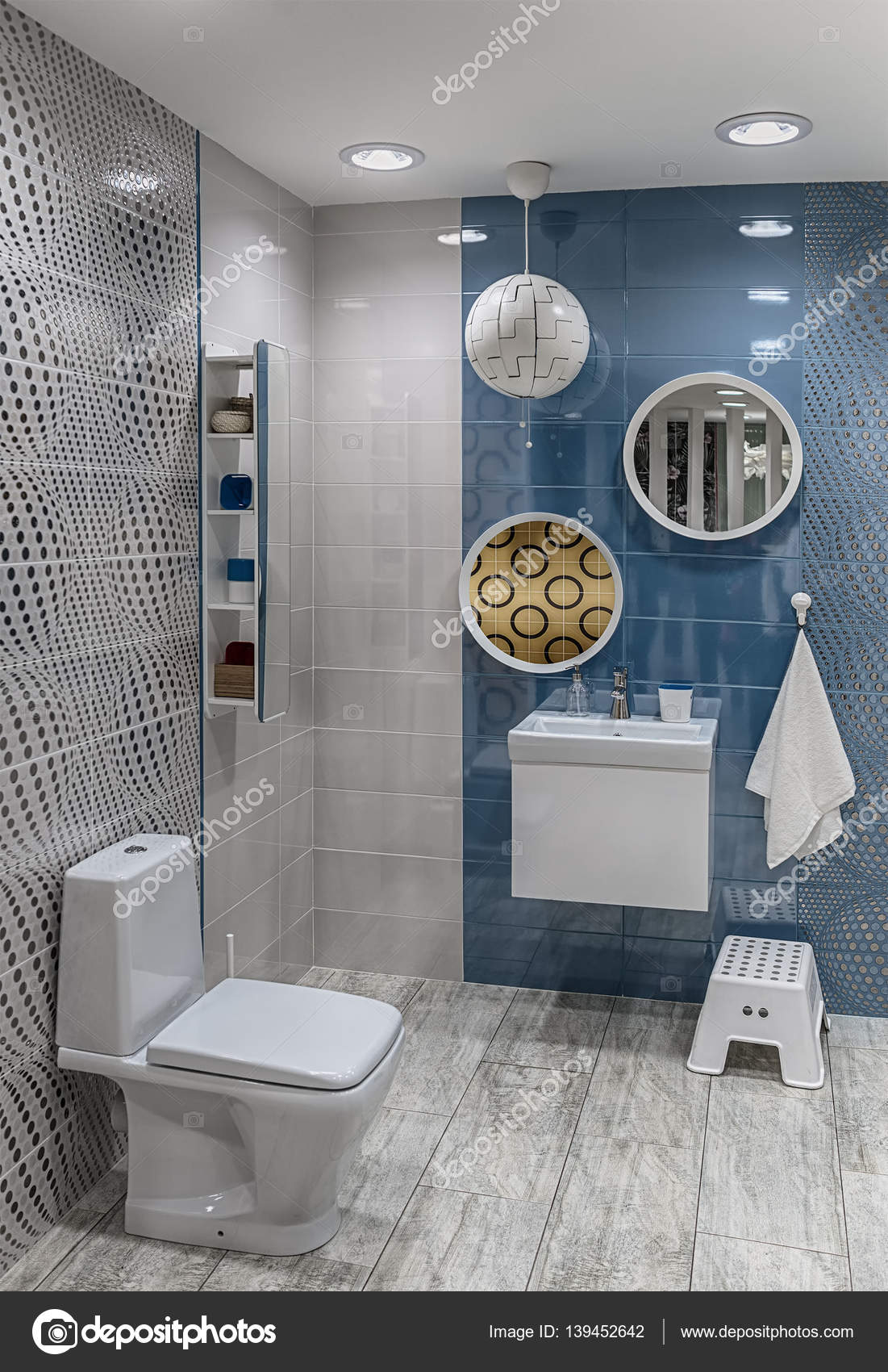 Moderno dise o interior de un cuarto de ba o fotos de for Banos modernos diseno interior