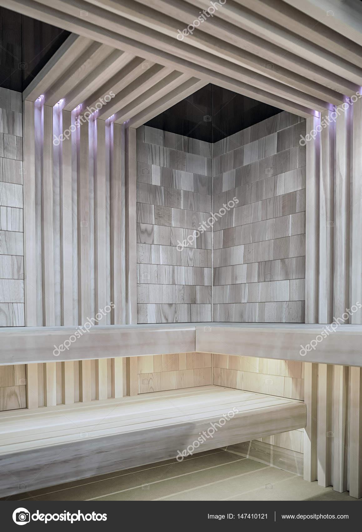 stijlvolle moderne sauna met led verlichting foto van fotiy