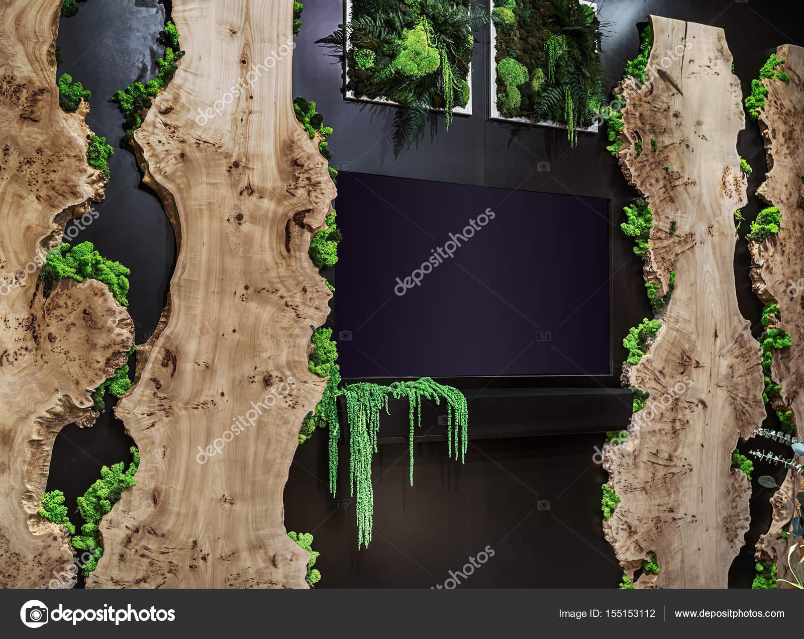 Natürlichen stabilisiert, Moos und Holz in eine moderne ...