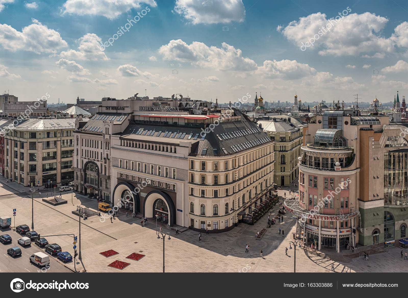 Moscow. July 27, 2017. Top view of Lubyanka Square ...