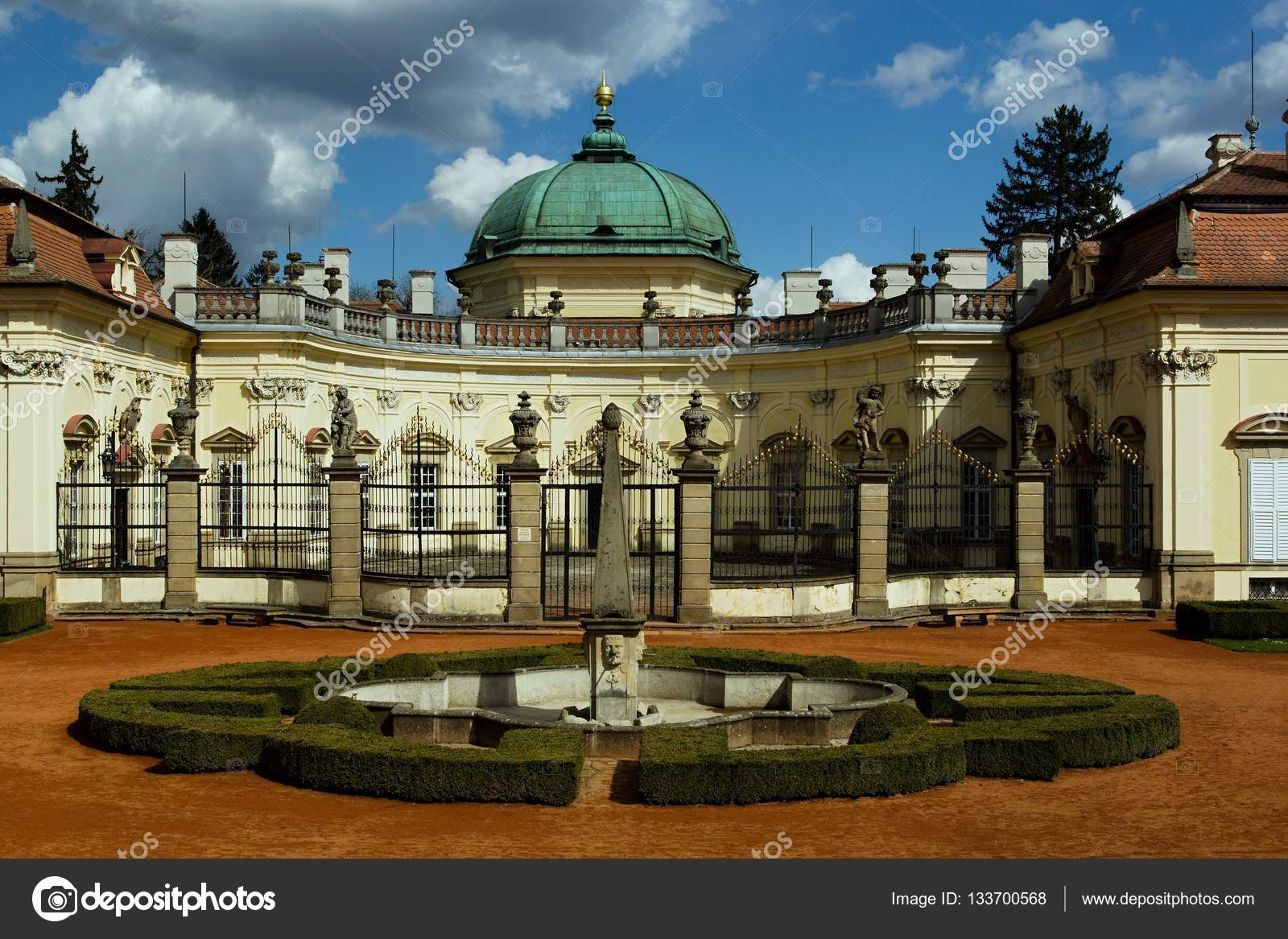 Buchlovice Castle Baroque Chateau Buchlovice French Gardens Situated ...