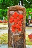 Hero Stones (Padiya) a varjvani Kutchnál. A bátor wa sírja.