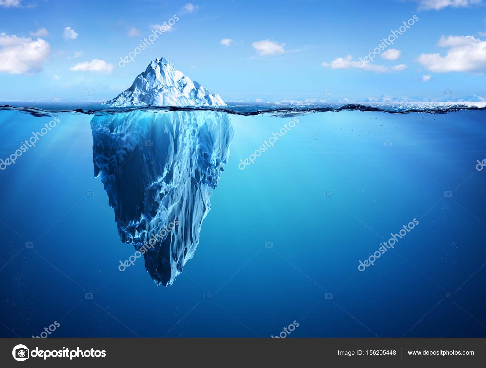 Iceberg pericolo nascosto e concetto di riscaldamento for Concetto aperto di piani coloniali