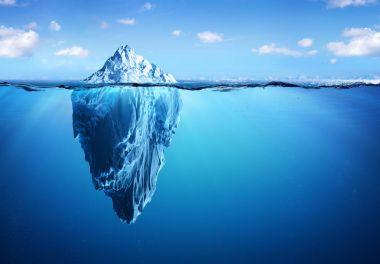 Iceberg - Hidden Danger And Global Warming Concept stock vector