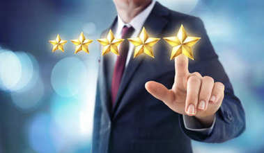 Five Stars Rating - Satisfaction Feedback