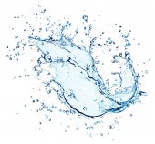 Stříkající vodě s kapkami, samostatný