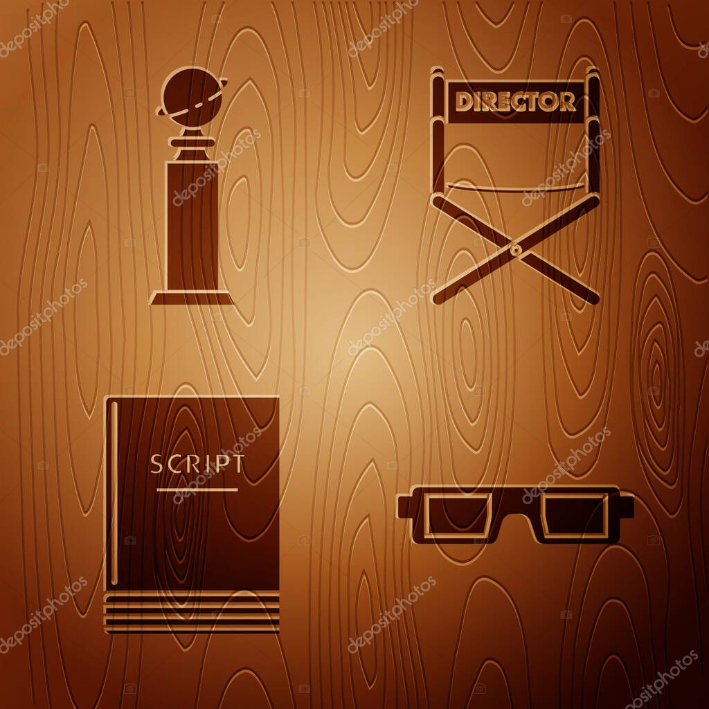 Picture of: Set 3d Cinema Glasses Trophy Golden Globe Scenario And Director Movie Chair On Wooden Background Vector Premium Vector In Adobe Illustrator Ai Ai Format Encapsulated Postscript Eps Eps Format