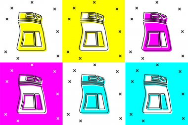 Set Cement bag icon isolated on color background.  Vector Illustration icon