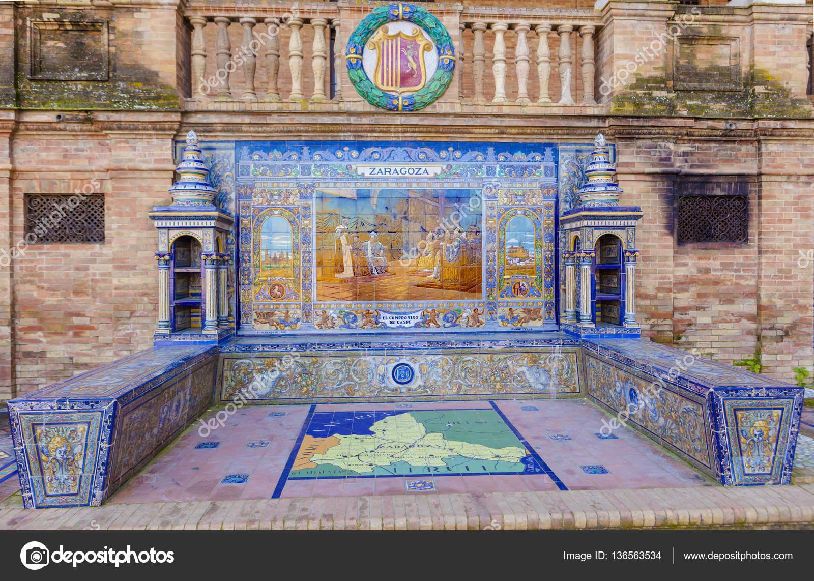 Plaza Espana Sevilla Zaragoza La Provincia De Zaragoza Esmaltado