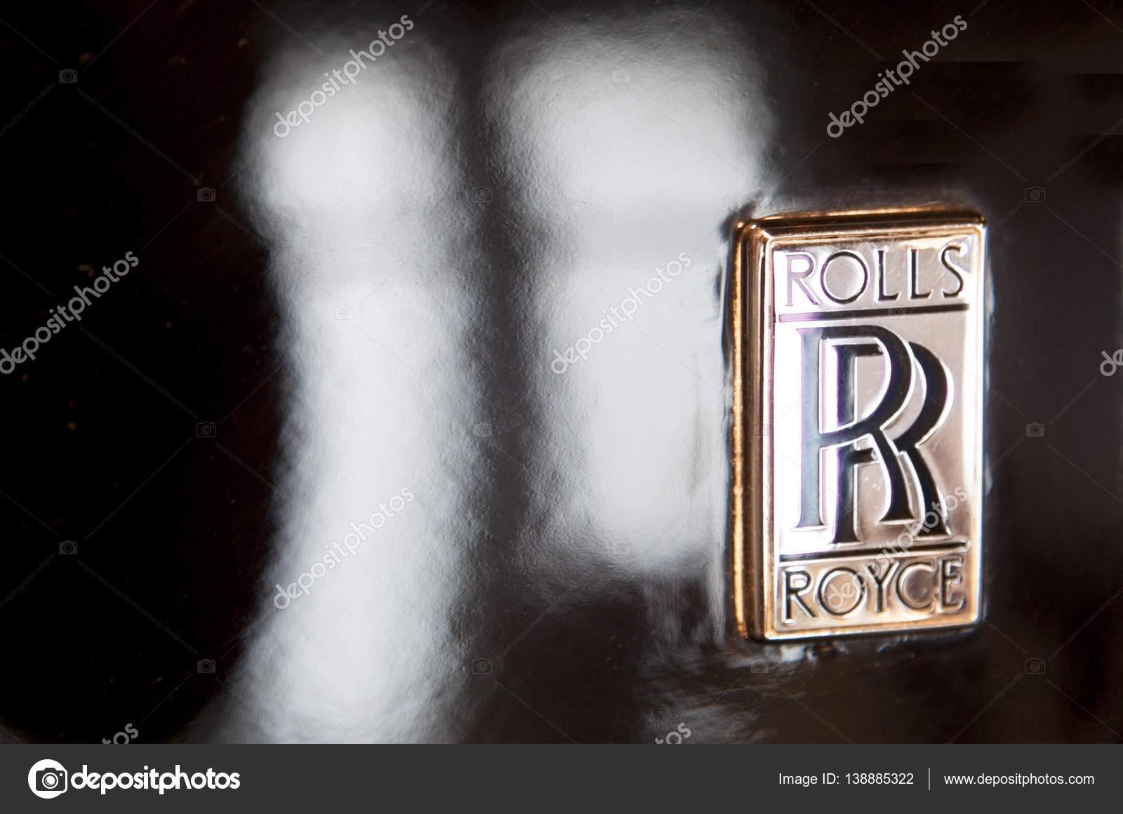 ロールス ・ ロイス ロゴ ブランド車の外 , ストック編集用写真