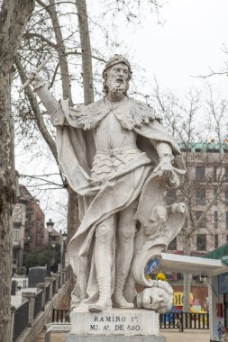Sculpture of Ramiro I of Asturias at Plaza de Oriente, Madrid, S