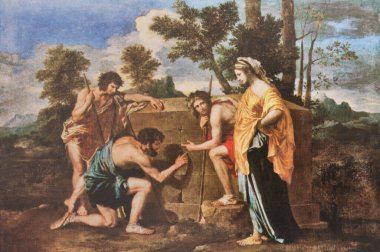Et in Arcadia Ego or The Arcadian Shepherds. Painted by Nicolas Poussin, 1639. Louvre Museum, Paris