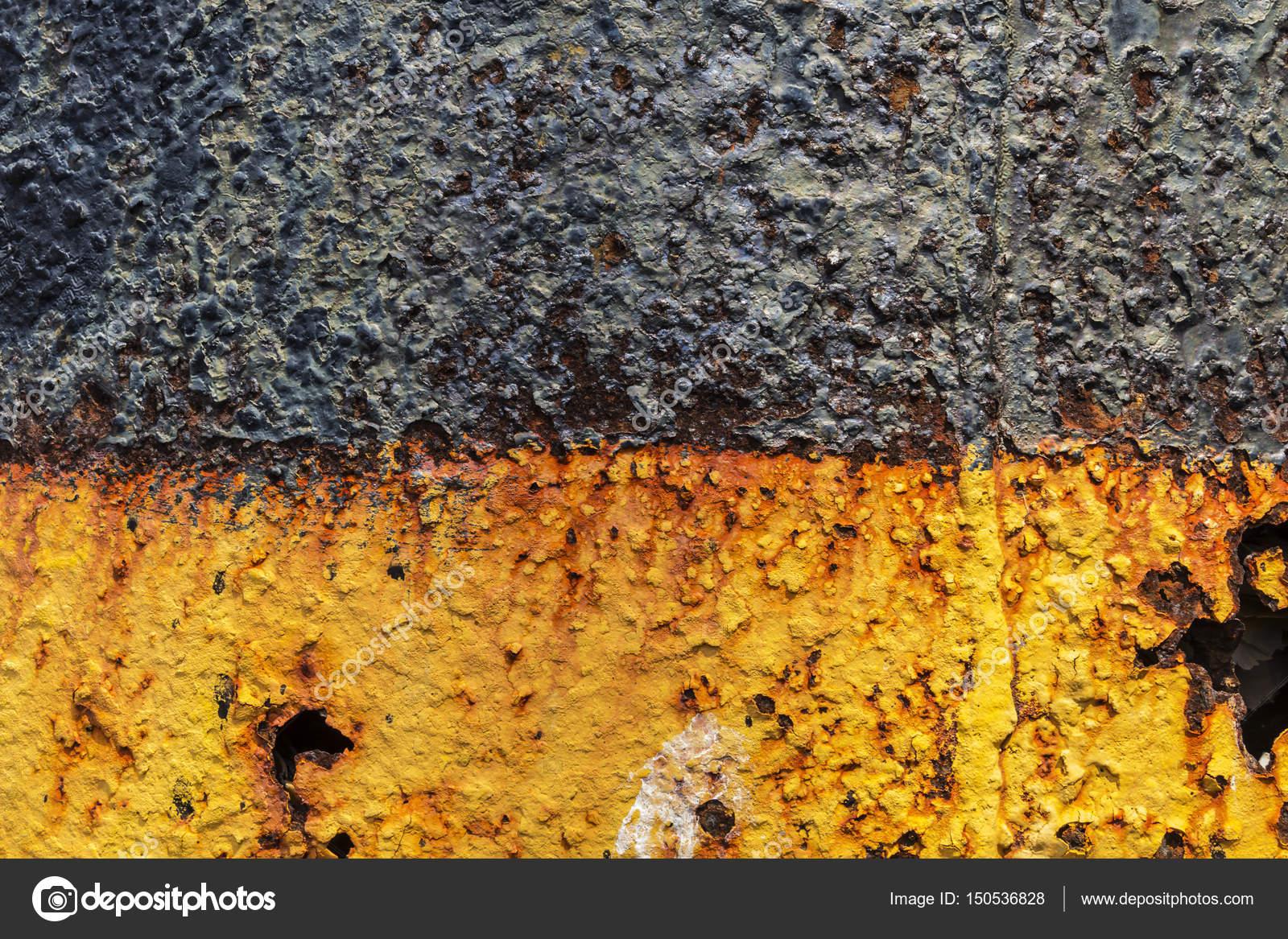 Peinture De Mur Surface De Rouille Et Ancienne Fissures Comme