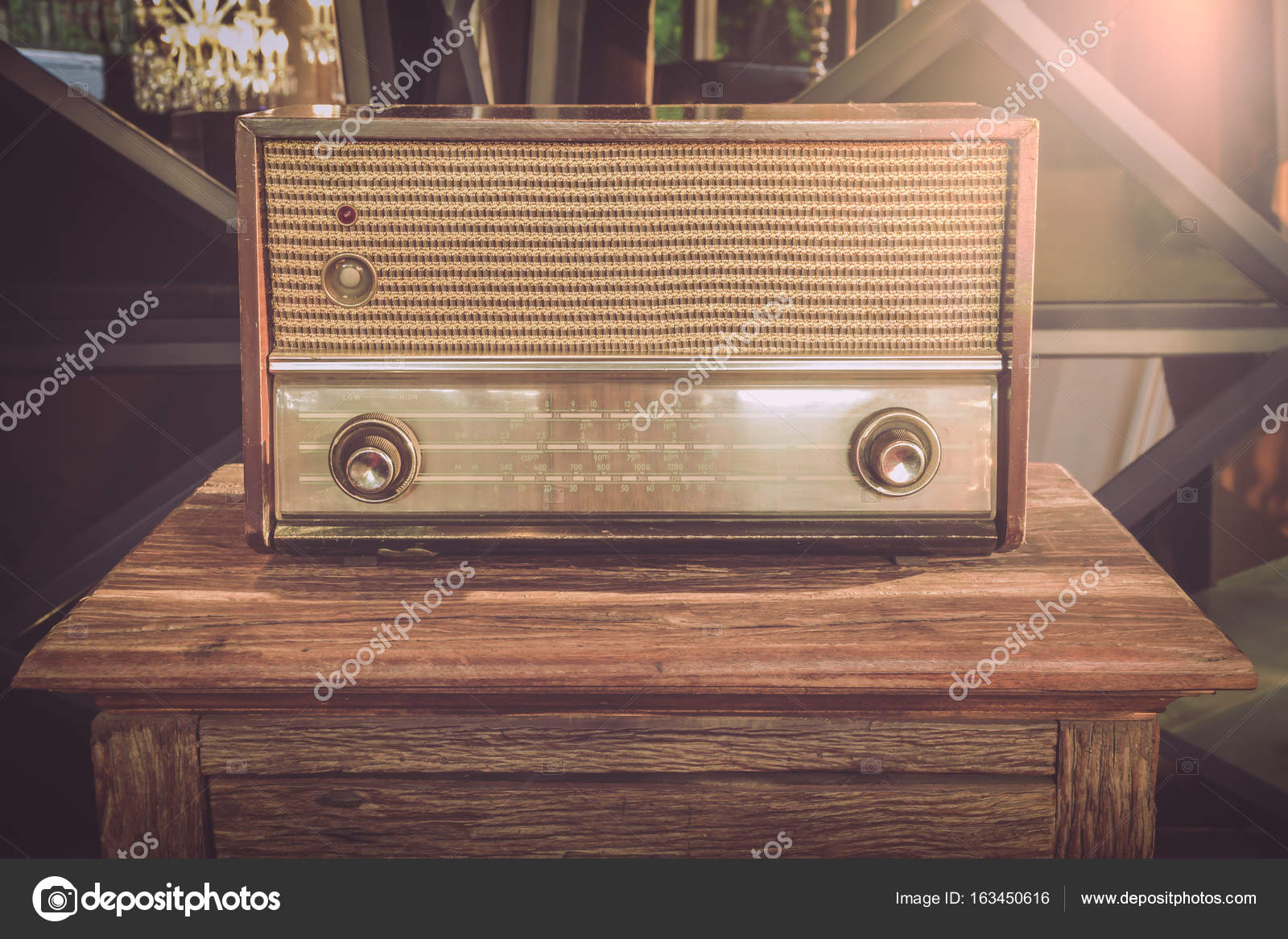 alte radios als illustrationen stockfoto kaewphoto 163450616