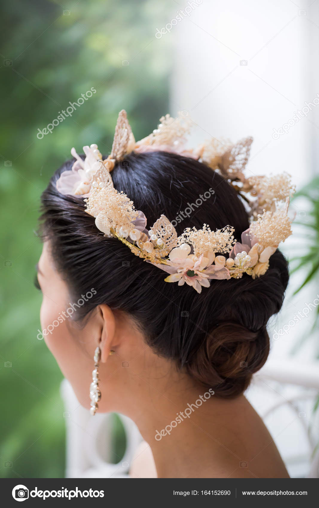 Bridal Hairstyles To Crown Fashion Accessories Stock Photo