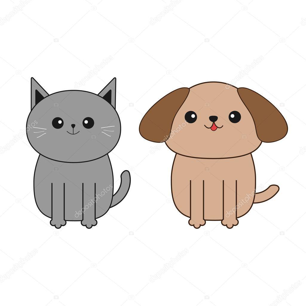 Dibujos Como Dibujar Perros Y Gatos Perro Del Dibujo Animado Y